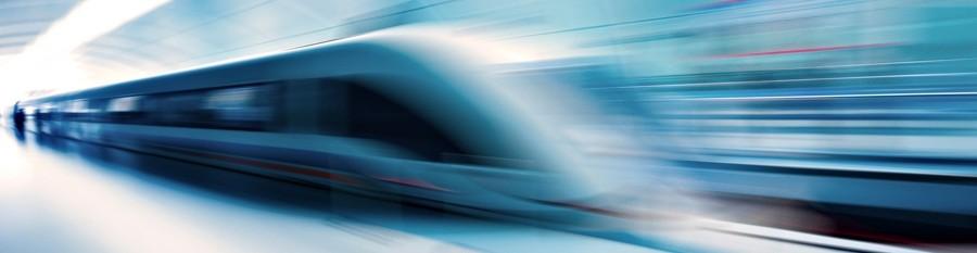 Tog i høj fart