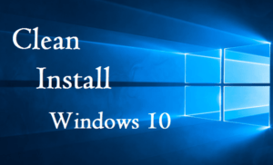 Ren installation af windows 10
