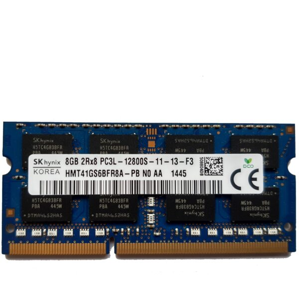 8GB, 204-pin SODIMM, DDR3 PC3L-12800, 1600MHz