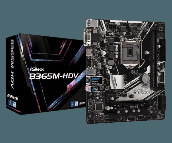 B365M 1 600x500 - Stationær PC ASRock B365M-HDV, i5, 8GB, 512GB