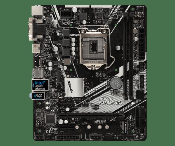 B365M 2 600x500 - Stationær PC ASRock B365M-HDV, i5, 8GB, 512GB