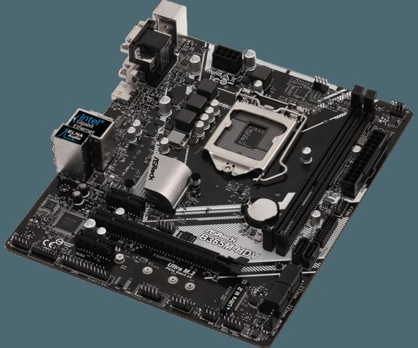 B365M 3 600x500 - Stationær PC ASRock B365M-HDV, i5, 8GB, 512GB