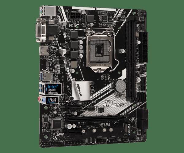 B365M 4 600x500 - Stationær PC ASRock B365M-HDV, i5, 8GB, 512GB