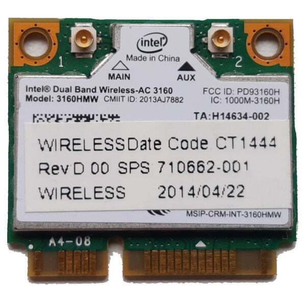 Dual Band Wireless-AC 3160