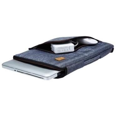 """Slim notebook taske 15""""6"""" blå med hank"""