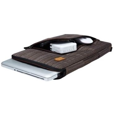 "Slim notebook taske 15""6"" brun med hank"