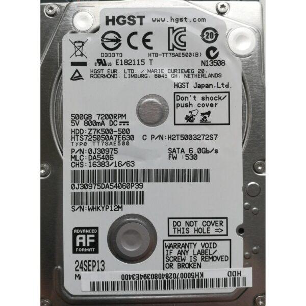"Hitachi 2.5"" Harddisk 500GB 7mm"