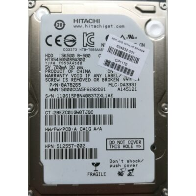 "Hitachi 2.5"" Harddisk 500GB 9,5mm"