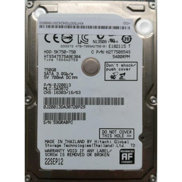 Hitachi 2.5 Harddisk 750GB 9,5mm