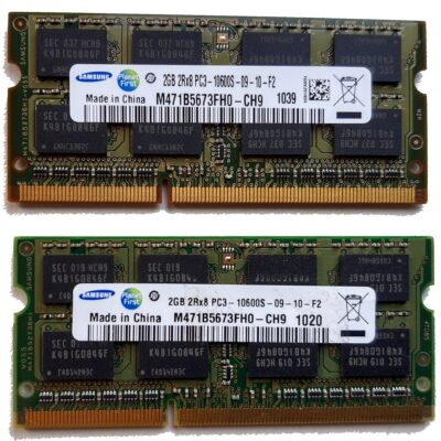 Samsung 2+2GB, 204-pin SODIMM, DDR3 PC3-10600S, 1333MHz