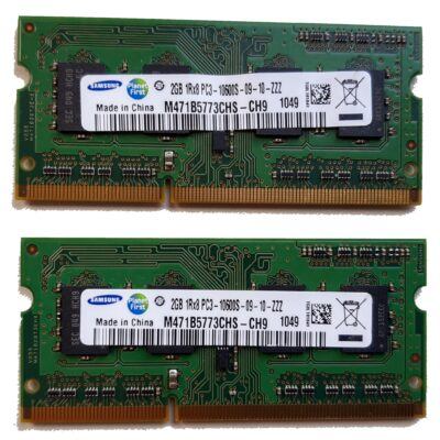 Samsung 2GB, 204-pin SODIMM, DDR3 PC3-10600S, 1333MHz