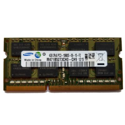 Samsung 4GB, 204-pin SODIMM, DDR3 PC3-10600S, 1333MHz