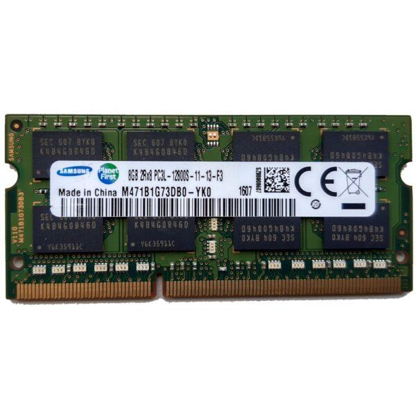 Samsung 8GB, 204-pin SODIMM, DDR3 PC3L-12800S, 1600MHz
