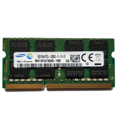 Samsung 8GB, 204-pin SODIMM, DDR3 PC3L-12800, 1600MHz