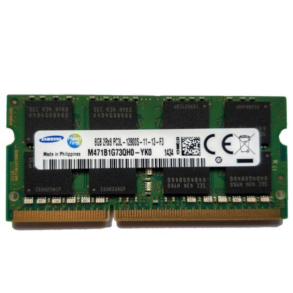 Samsung 8GB, 204-pin SODIMM, DDR3 PC3L-12800, 1600MHz