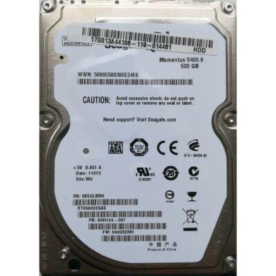 "Seagate 2.5"" Harddisk 500GB 9,5mm"
