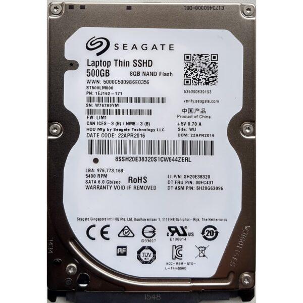"""Seagate 2.5"""" Harddisk Hybrid SSHD 500GB 7mm"""