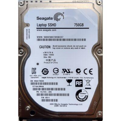 Seagate 2.5 Harddisk Hybrid SSHD 750GB 9.5mm