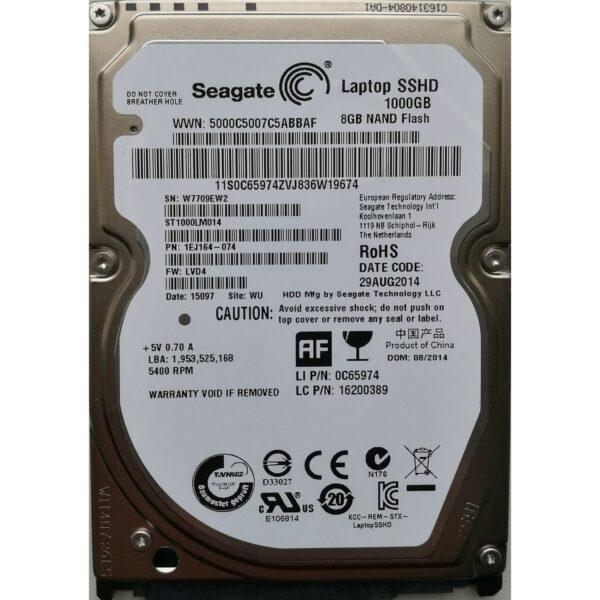 """Seagate 2.5"""" Harddisk Hybrid SSHD 1TB"""