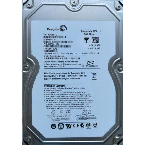 """Seagate Barracuda 3.5"""" Harddisk 500GB"""