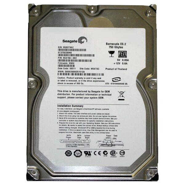 Seagate Barracuda 3.5 Harddisk 750GB