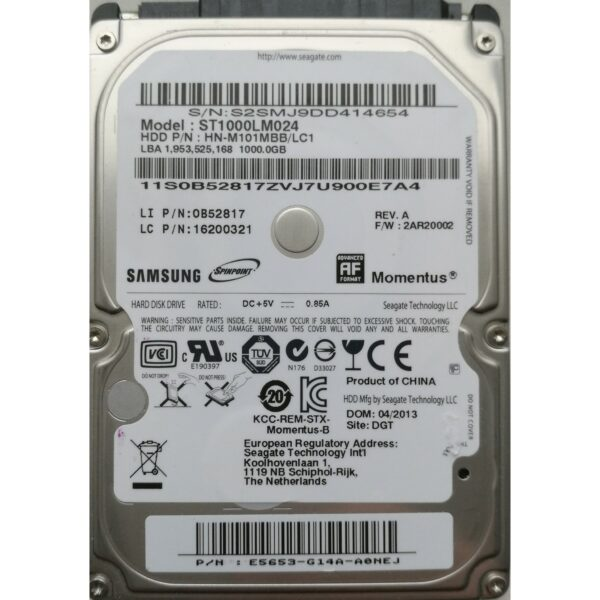 Seagate SpinPoint 2.5 1 TB
