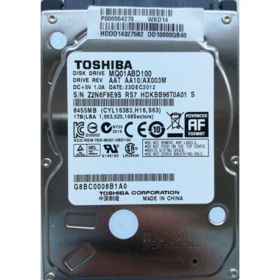 "Toshiba 2.5"" Harddisk 1TB 9,5mm"