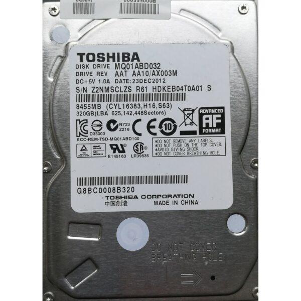 "Toshiba 2.5"" Harddisk 320GB 9,5mm"
