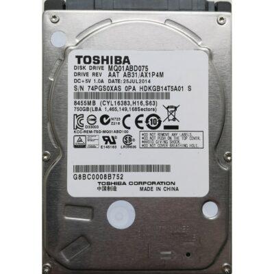 "Toshiba 2.5"" Harddisk 750GB 9,5mm"