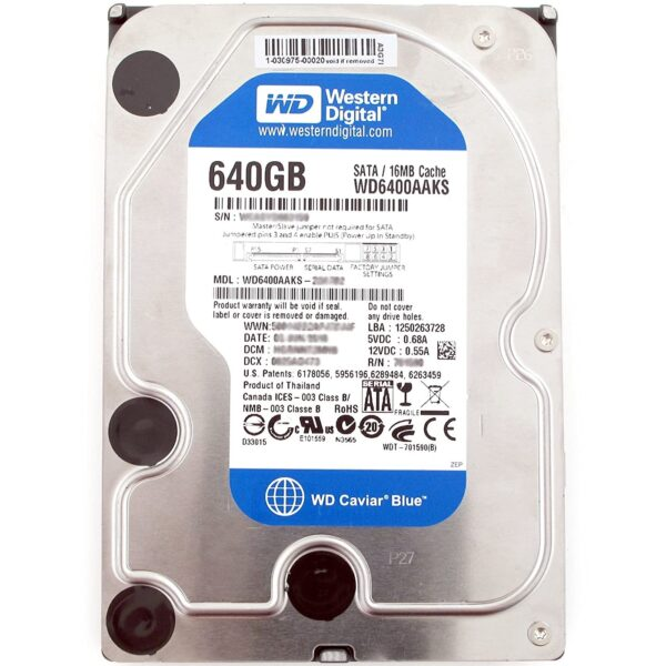 WD Blue WD6400AAKS Harddisk - 640 GB