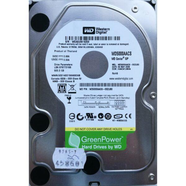 "WD Green 3.5"" Harddisk 500GB"