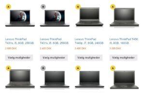 Salg af nye og brugte computere